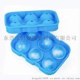 夏季热销硅胶6孔冰球模 6连球形硅胶冰格 制冰器模