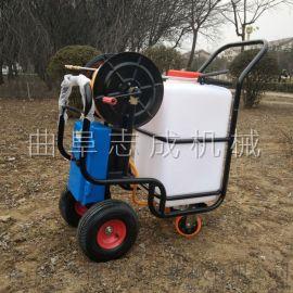 农用四轮推车式打药机60升电动打药机价钱