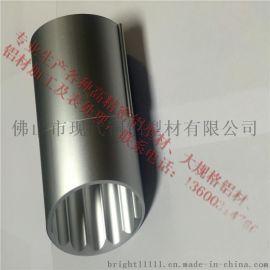 厂家供应圆管支架铝材 异型圆管铝型材 木纹铝合金圆管 欢迎来电
