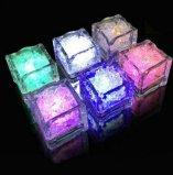 现货供应酒吧KTV发光冰块 入水即亮LED七彩冰块 水感应发光冰块