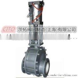 排渣闸阀PZ41H-16C,手动法兰铸钢排渣闸阀