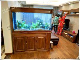 泰州精品鱼缸定做大型亚克力水族箱超白玻璃