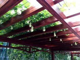 厂家定做葡萄架 铝合金廊架花架设计安装