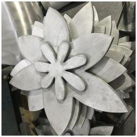 上海客户定制雕刻铝单板花束 艺术双曲铝单板雕花效果