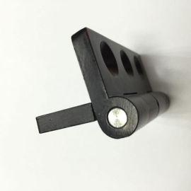 黑色喷塑锌合金合页黑淡光工业铰链亚光锌合金铰链65*55*5.5