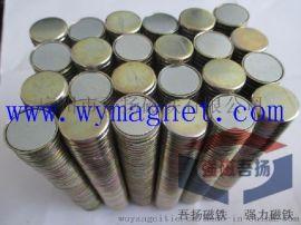现货供应¢15*2MM环保包装单面磁铁,钕铁硼磁石扣