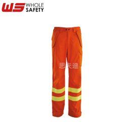 高可視熒光 阻燃防靜電長褲 阻燃野外消防作業褲 定制消防褲子