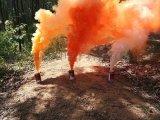 部隊拉練專用彩色發煙罐 消防隊演習用黑色發煙彈