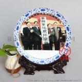 中秋禮品陶瓷紀念盤定制廠家