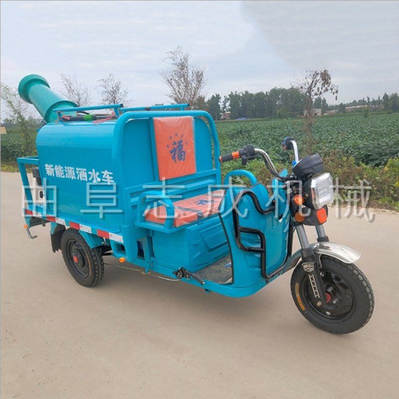 新能源电动三轮洒水车移动式工地雾炮洒水车