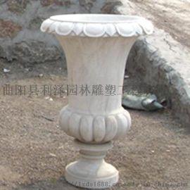 大理石石质花钵 花岗岩花钵生产厂家