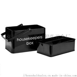 铁制 金属 双层家居收纳箱药箱清洁用具收纳盒含内格