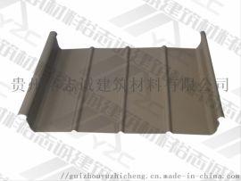 供应贵阳铝镁锰板直立锁边屋面系统65-420厂家