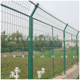 浸塑框架护栏网 河边框架护栏网 河道框架护栏网