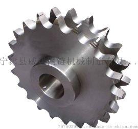 C2062不锈钢链轮 6分双节距不锈钢链轮