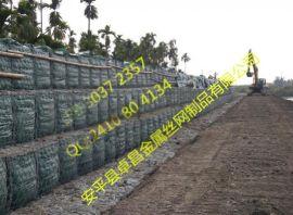 水沟清淤高镀锌宾格石笼网,双绞雷诺护垫