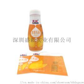 定制PET热收缩膜标签 奶茶热收缩膜 代收缩果酒膜