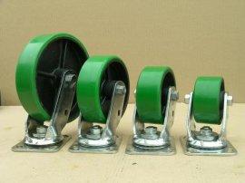 重型铁芯聚胺脂脚轮(万向轮)(PU)