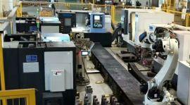 铝合金配件CNC加工机床上下料机器人- 车床机械手