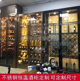 北京不锈钢酒柜.定制不锈钢恒温酒柜