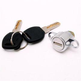 行李箱锁芯 促销新型山地车锁具配件 铜压尼龙钥匙锁芯锁具