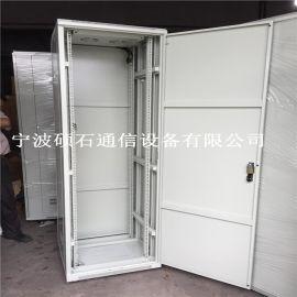 九折型材标准网络服务器机柜前单开后双开网孔门机柜