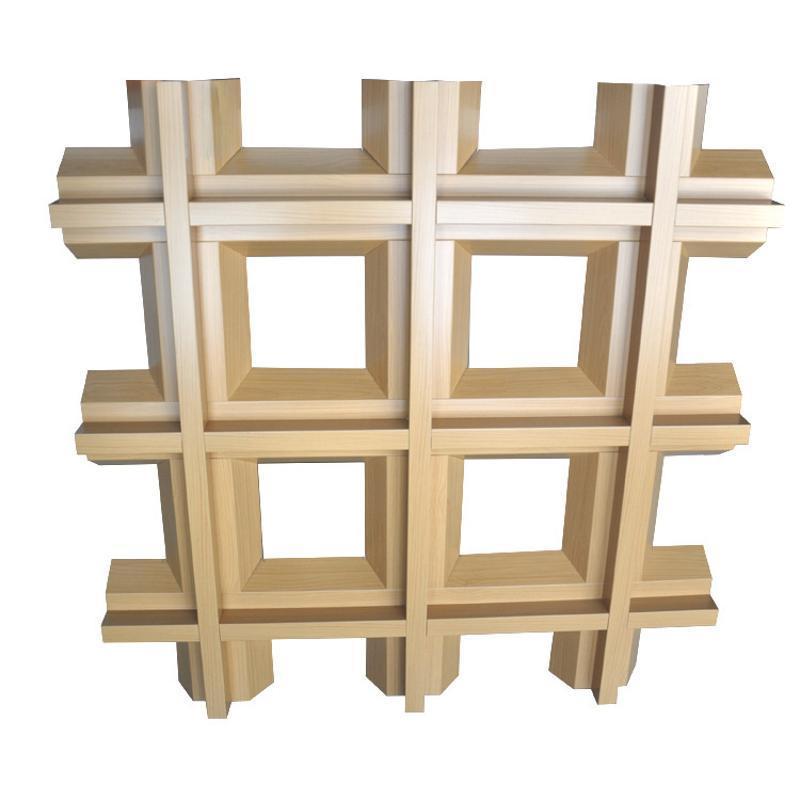 广东木纹铝格栅天花吊顶铝格栅规格定制生产
