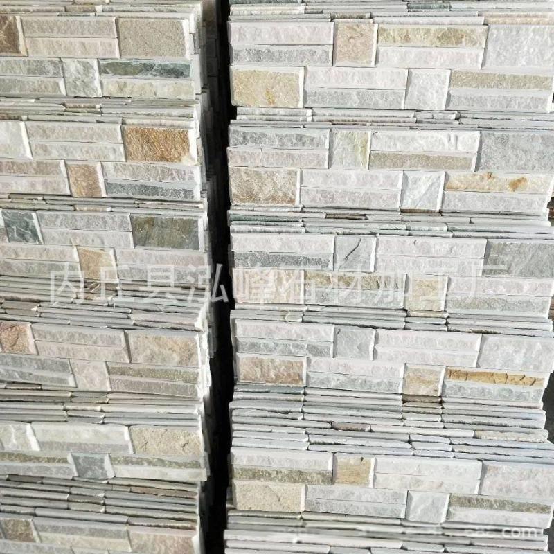 台州蘑菇石厂家黄木纹碎拼批发供应