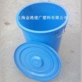 加厚耐摔100升塑料桶 日用简约时尚圆形塑料桶 带盖塑料垃圾桶