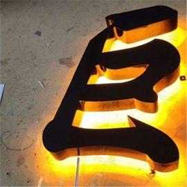 金屬廣告牌 發光標識牌 不鏽鋼字背光字LED廣告字立體發光字招牌