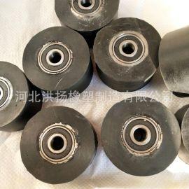 生产定制 轴承包胶滑轮 耐磨轴承包胶轮 轴承包胶滚轮定制