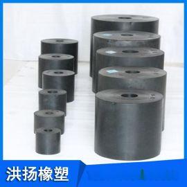 圆柱型橡胶减震垫块橡胶缓冲垫块 橡胶弹簧