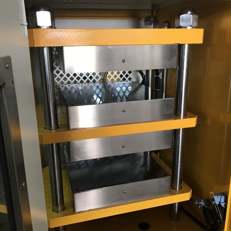 实验室平板硫化机 电加热水冷却试验型模压机