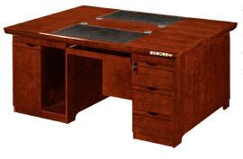1611款1.6米双面油漆办公桌 胡桃木皮环保家具