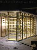 古铜色不锈钢红酒柜 不锈钢红酒架设计各种酒柜定制
