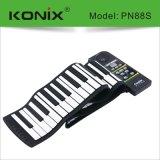 88鍵手捲鋼琴帶外音多功能電子琴 矽膠電鋼琴工廠批發