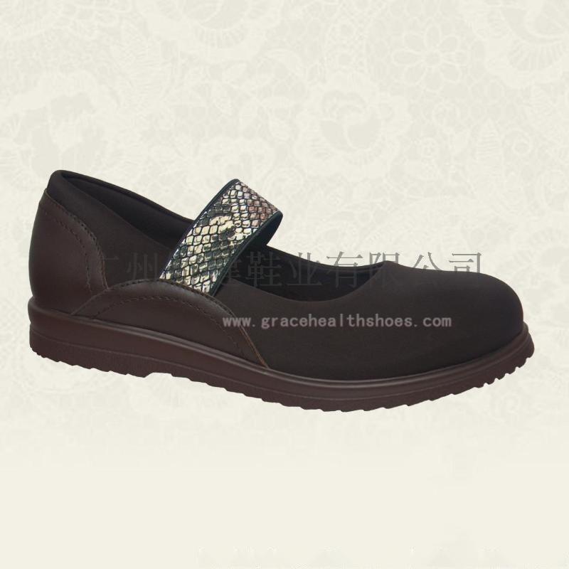 广州矫健鞋,外贸女式舒适鞋,人体力学功能休闲女鞋