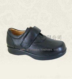 广州矫健舒适皮鞋,真皮糖尿病足预防鞋