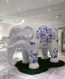 深圳供应广场景观装饰玻璃钢动物大象雕塑厂家