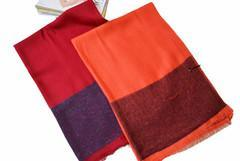 工廠時尚女士80支羊毛羊絨混紡圍巾