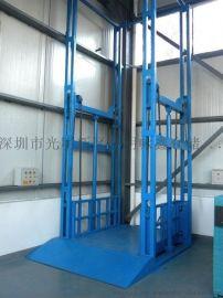 深圳固定导轨式升降货梯1T4M