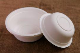 天和L001纸浆碗500ML打包碗,环保餐具,纸浆餐具