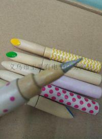 口红木头笔 工艺笔 创意圆珠笔 可定做 创意书写文具 礼品笔