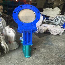 電液動刀型閘門DN200鑄鋼硬密封刀閘閥