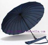 24骨黑色长柄伞