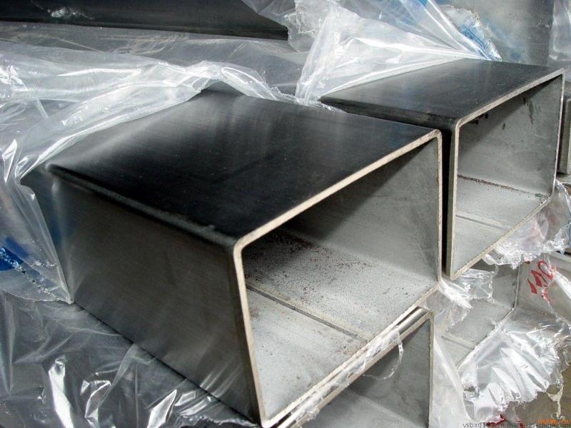 矩形不鏽鋼管 50*100不鏽鋼矩形管 惠州拉絲不鏽鋼方管
