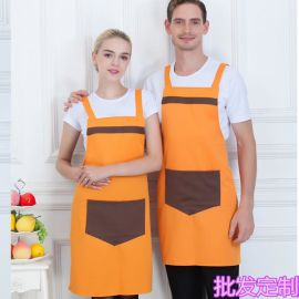 火锅店餐厅咖啡店工作服围裙餐饮酒店服务员围裙广告围裙定制logo
