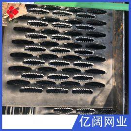 厂家生产 汽车脱困防滑板 鳄鱼嘴冲孔板 热镀锌起鼓脚踏板