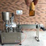 【精油瓶灌裝機】全自動精油液體灌裝機 小型香水灌裝鎖蓋旋蓋機