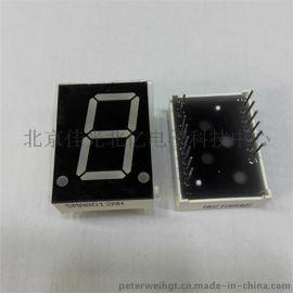 0.8英寸单一1位led数码管共阴共阳黄绿色光6011AH/BHRSG仪器仪表机械设备面板显示厂家
